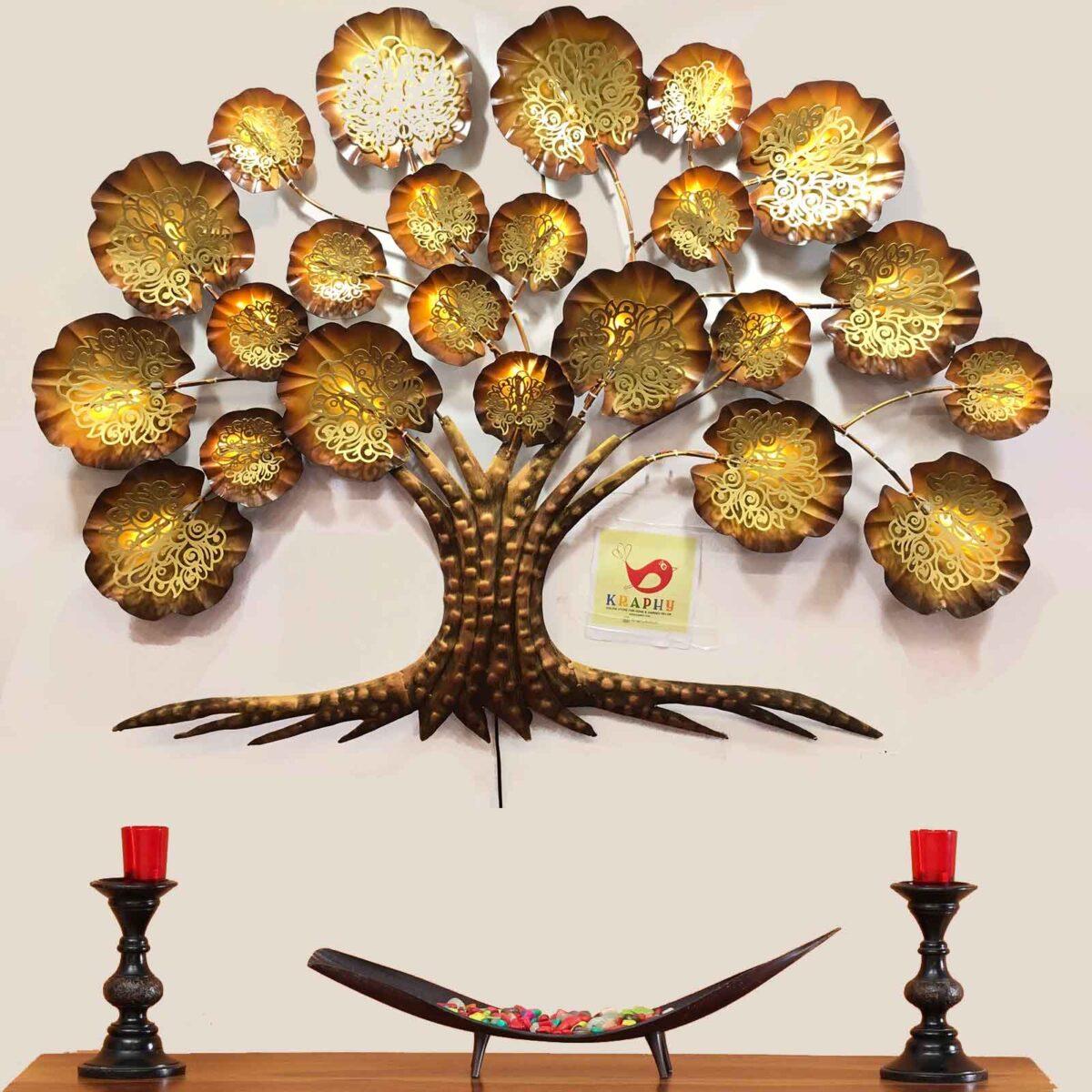 Antique Design Metal Tree Wall Art 1