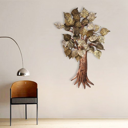 Iron Multicolor Hand Painted Wall Decor Peepal Tree