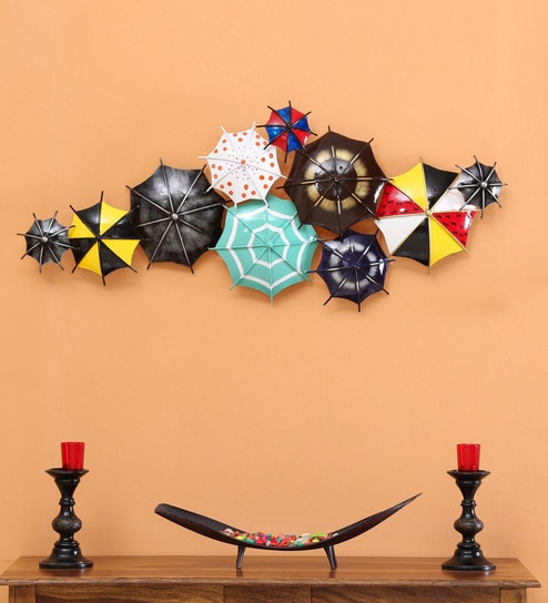 metal umbrella shaped metal wall hanging decor
