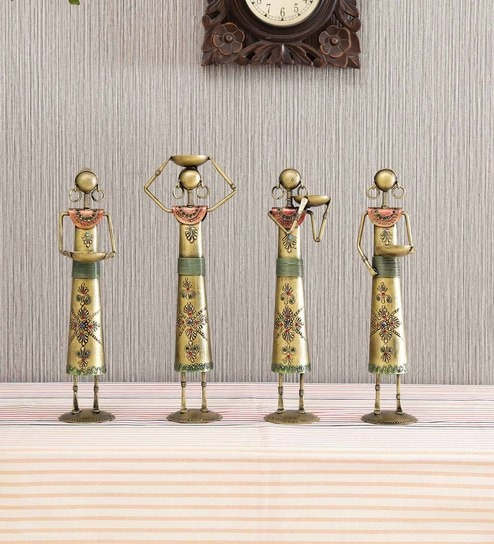 multicolour iron lady worker set of 4 by craftpreneurs india multicolour iron lady worker set o c58apf