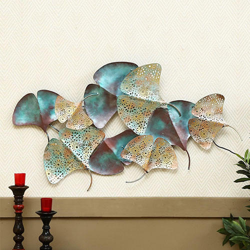 multicolour wrought iron decorative with led wall art