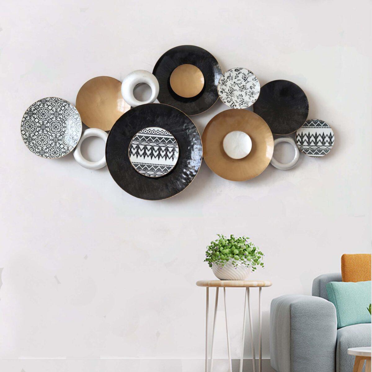 A Symphony of Metallic Wall Plates Art Panel