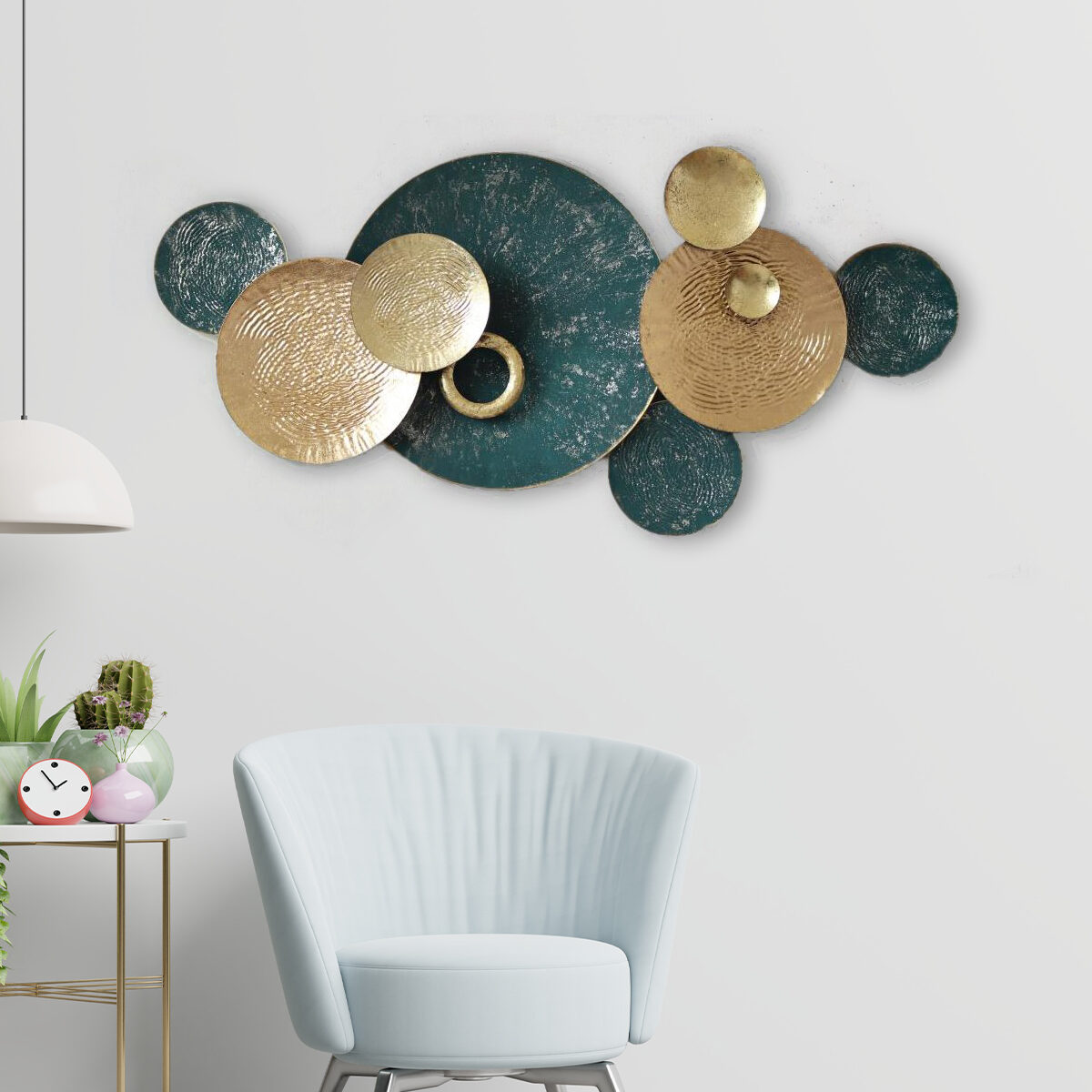 The Green Asteroid Metallic Wall Art Panel