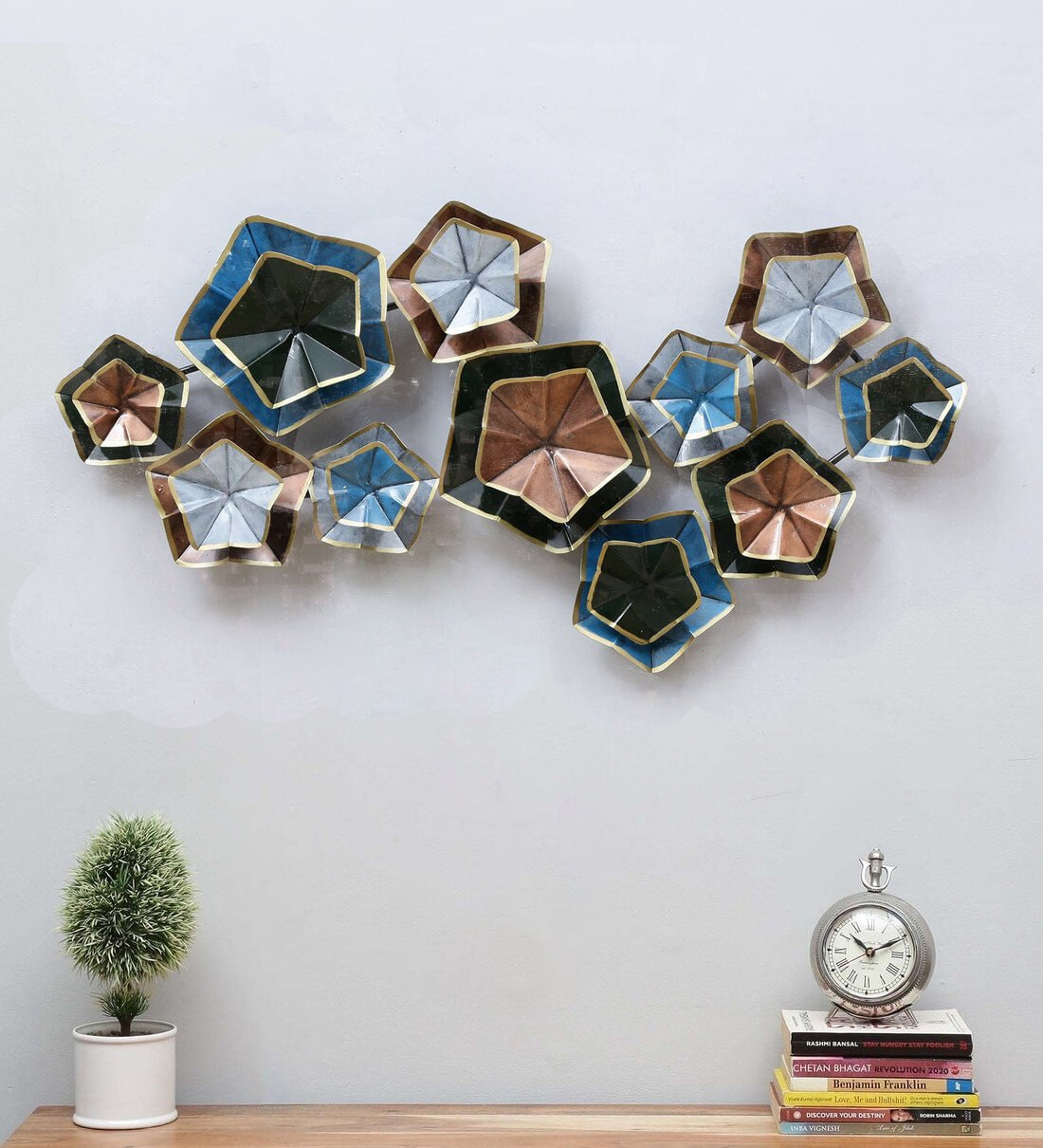 Wrought Iron Decorative In Multicolor Wall Art
