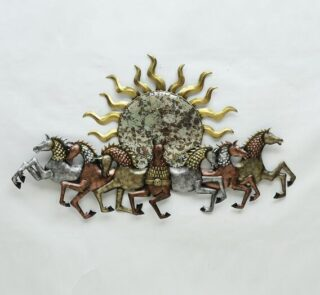 metal-Seven-running-horse-with-sun-wall-art-by-decorfry